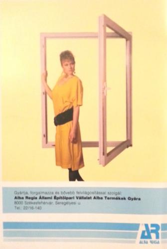 műanyag ablak hirdetés a '80-as évekből