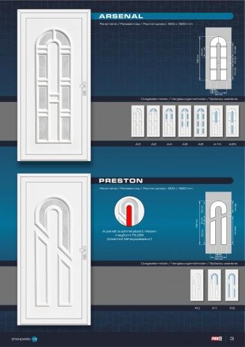 Kömmerling műanyag bejárati ajtó 5