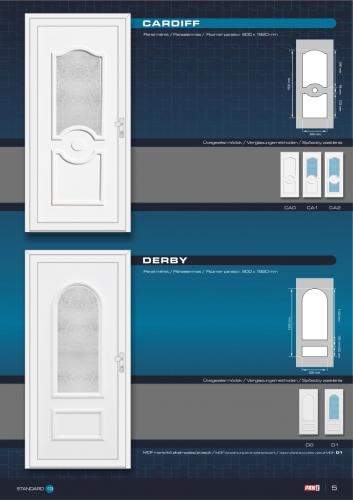 Kömmerling műanyag bejárati ajtó 7