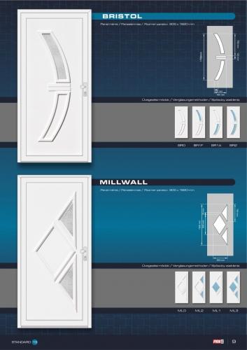 Kömmerling műanyag bejárati ajtó 11