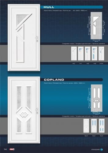 Kömmerling műanyag bejárati ajtó 16