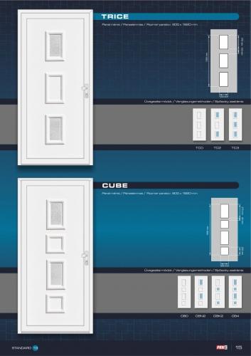 Kömmerling műanyag bejárati ajtó 17